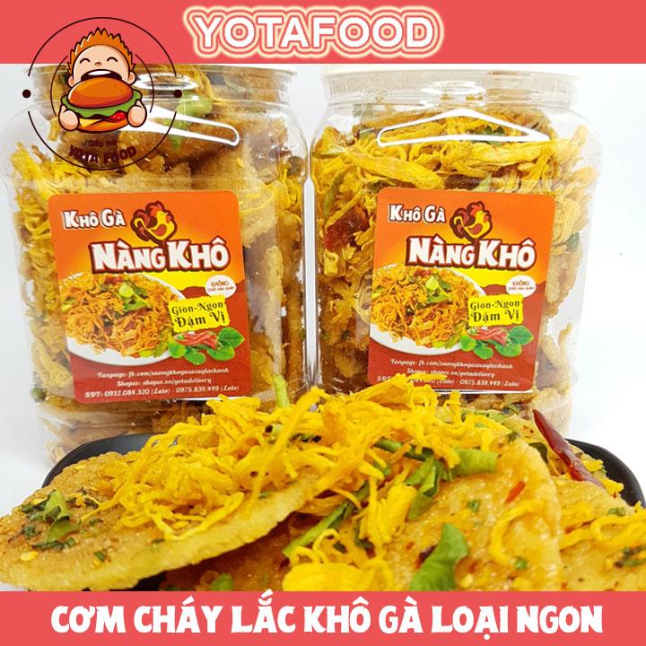 [HCM]1 kí cơm cháy khô gà loại 1 giòn ngon đậm vị Yotafood béo ngậy thơm ngon giòn rụm món ăn vặt cực hấp dẫn