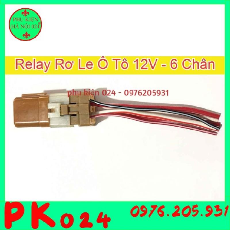 relay ô tô - Relay Rơ Le Ô Tô 12V 6 Chân Nâu