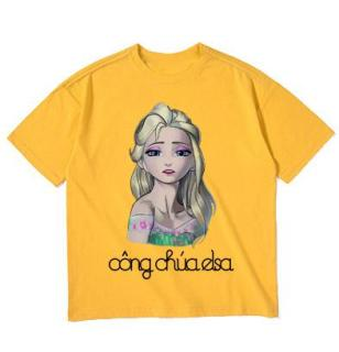 Áo thun bé gái in hình dễ thương M29 Thương Hiệu Elsa thumbnail