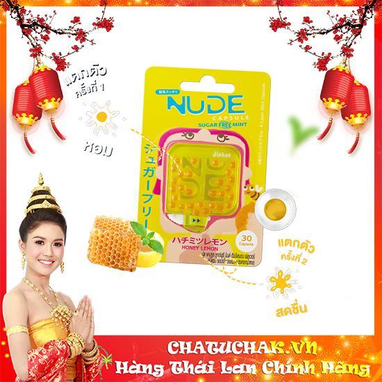 Kẹo ngậm thơm miệng Nude Capsule Sugar Free Mint vị mật ong