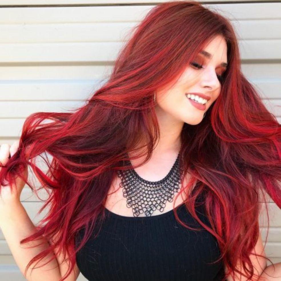 Thuốc nhuộm tóc màu Đỏ lên trực tiếp nhập khẩu
