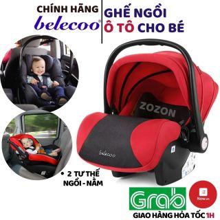 Ghế ngồi ô tô cho bé Belecoo chính hãng CAR SEAT an toàn cho trẻ em từ sơ sinh tới 5 tuổi gắn được vào xe đẩy nôi Zozon thumbnail