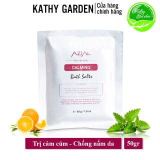 Muối ngâm chân tinh dầu AZIAL Calming Bath Salts, thải độc tố, chống nấm da và giảm chứng viêm mô tế bào, gói minisize 50g thumbnail