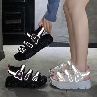 (2 MÀU) Sandal nữ kiểu dáng Ulzang nữ tính sandal học sinh quai chữ AIR phản quang cao cấp đế siêu êm trẻ trung đi học đi chơi đi làm đi biển( lưu ý shop có bán kèm tất .các bạn mua giày ko chọn tất nhé ạ ) thumbnail