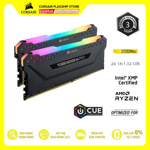 Bảng giá RAM PC CORSAIR VENGEANCE PRO RGB 32GB DDR4 2x16G 3200MHz CMW32GX4M2E3200C16 Phong Vũ