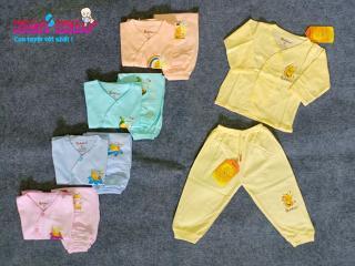 COMBO 2 Bộ dài áo quần sơ sinh màu cao cấp kháng khuẩn BABIBOO (BB17, BB18) thumbnail