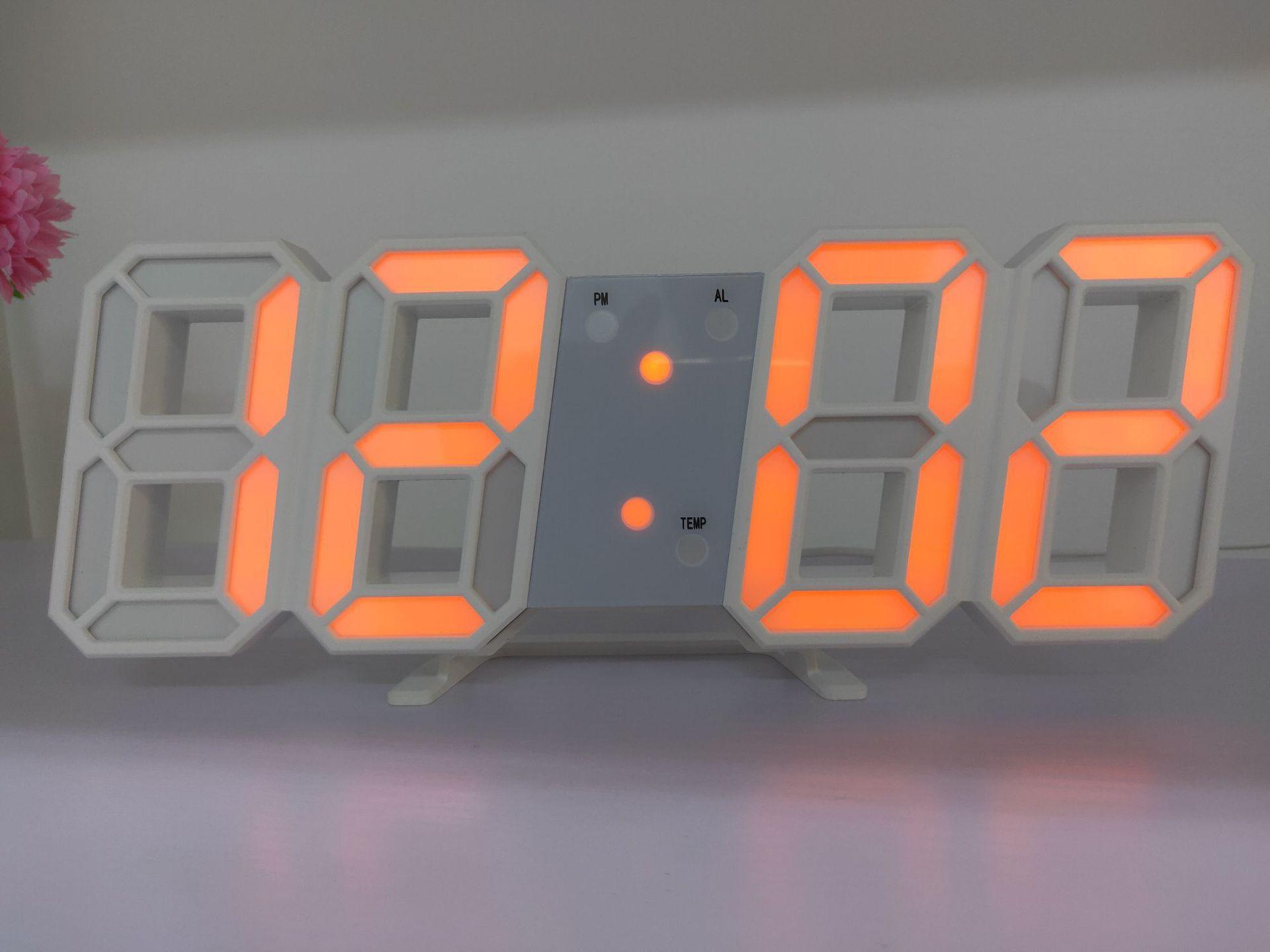 Đồng Hồ LED Treo Tường 3D Phong Cách Hàn Quốc Giá Cực Ngầu