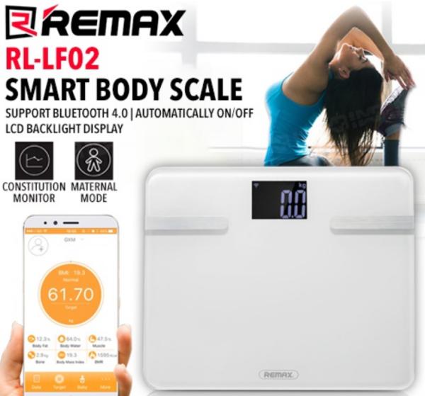 Cân điện tử thông minh Remax RL-LF02 quản lí qua ứng dụng điện thoại