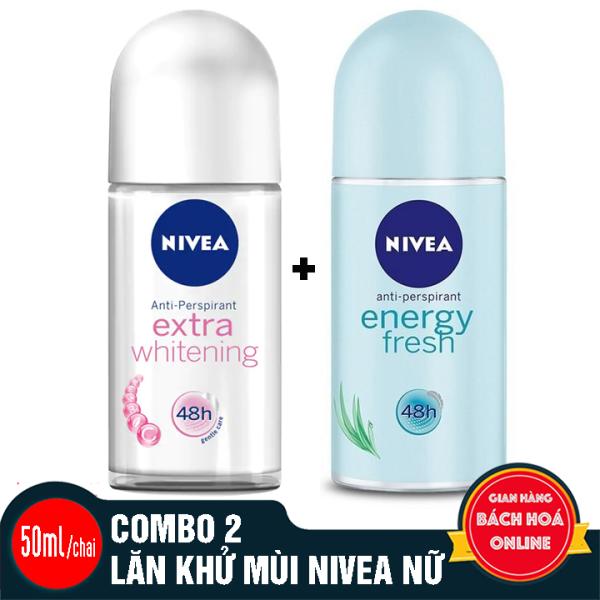 2 CHAI LĂN KHỬ MÙI NIVEA  - 50ml/chai