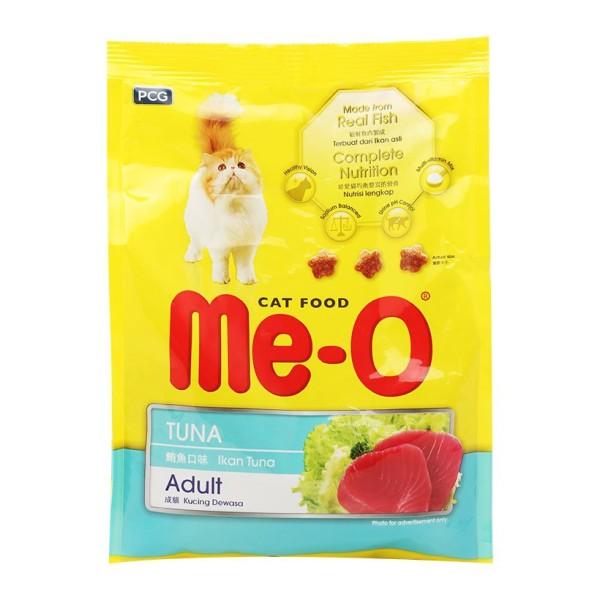 Thức ăn hạt cho Mèo Me-O vị cá ngừ gói 350g Hải Sản