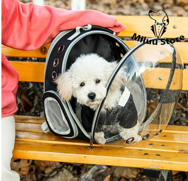 Balo chó mèo PHI HÀNH GIA thế hệ mới, balo túi lưới vận chuyển thú cưng cải tiến mở rộng không gian [NEW VERSION]