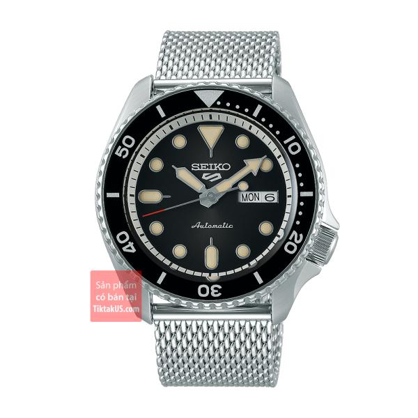 Đồng hồ nam Automatic Seiko 5 sport SRPD73K1 size 42mm dây Mesh vỏ thép không gỉ chống nước 100m trữ cót 40 tiếng