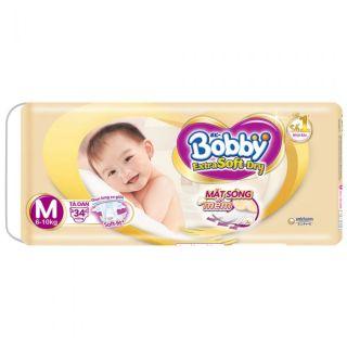Tã Dán Bobby Extra Soft-Dry 34 Miếng Size M (Cho Bé 6-10kg) thumbnail