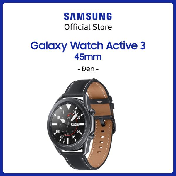 Đồng hồ thông minh Galaxy Watch3 Bluetooth 41mm/45mm - Viền thép dây da, Mặt kính chống trầy, Đo nồng độ Oxy trong máu (SpO2 và VO2 Max), Màn hình SUPER AMOLED với 2 nút bấm và vòng bezel xoay, Thời Lượng Pin Lên Đến 40 Tiếng