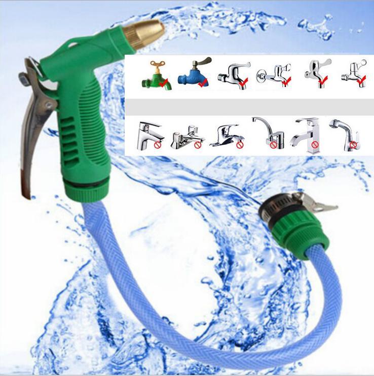 Bộ dụng cụ tưới cây và rửa xe chuyên nghiệp. S.úng phun và dây cấp nước dài 10m. dây nước cao cấp tăng áp lực nước lên3 lần. Diều chỉnh tia nước đơn giản và lắp đặt được với các loại vòi.(mau xanh)