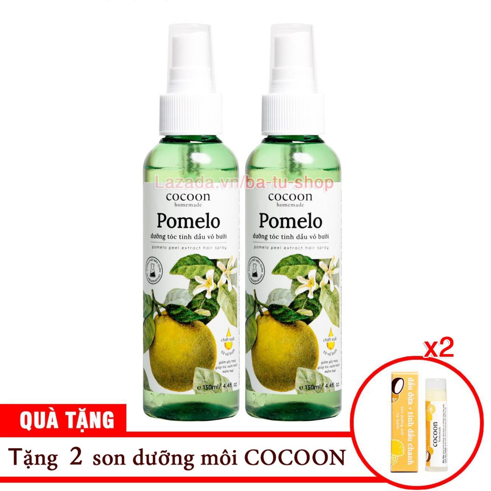 Bộ 2 chai xịt bưởi Cocoon kích thích mọc tóc, ngăn rụng tóc 130ml TẶNG 1 SON tốt nhất
