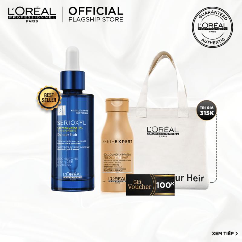 [Tặng Voucher 100k] Tinh chất hỗ trợ mọc tóc LOreal Professionnel Serioxyl Denser Hair 90ml nhập khẩu