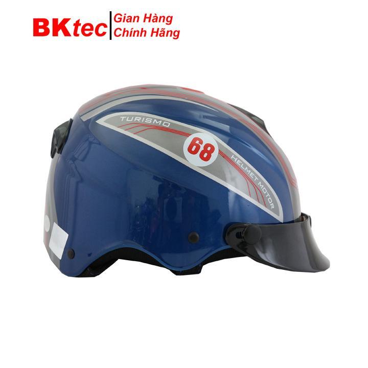Mũ bảo hiểm nửa đầu không kính chính hãng BKtec, mũ bảo hiểm thời trang,nón bảo hiểm cao cấp Nhật Bản