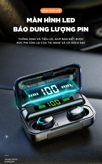 Tai Nghe Bluetooth Không Dây Amoi F95 Bản Cao Cấp Hỗ Trợ Mọi Dòng Máy - Tai Nghe Bluetooth 5.0 - Tai nghe bluetooth pin trâu - Tai nghe nhét tai không dây bluetooth, Tai nghe bluetooth mini - Tai nghe i7s, i9s, i11s, Amoi f9 8