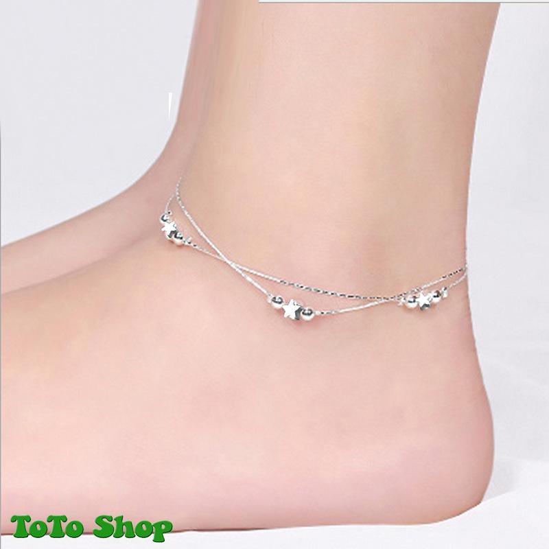 [HCM]Lắc chân kiểu dáng thời trang hai lớp mẫu bán chạy họa tiết ngôi sao phong cách Hàn Quốc BSTVT - [ToToShop]