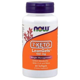 Thực phẩm bảo vệ sức khỏe 7-Keto LeanGels 100mg hãng Now foods USA Kiểm soát cân nặng, giảm béo, chuyển hóa chất béo, giảm tích trữ mỡ thumbnail