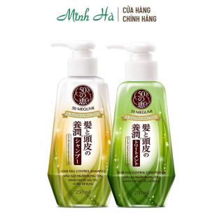 Bộ đôi gội xả ngăn rụng tóc 50 Megumi Hair Fall Control 250ml hệ thảo mộc thiên nhiên dành cho tóc yếu dễ rụng thumbnail