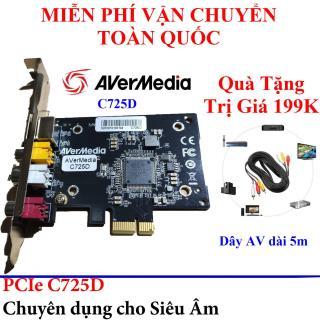 Quà Tặng Trị Giá 199K - Card Chuyển Đổi PCI Ex sang AV, S-Video AVERMEDIA C725D(CE310B) Cao Cấp - Card ghi hình cho máy nội soi Avermedia C725D CE310B - Card ghi hình Aver Media EZMaker SDK Express C725D- Card ghi hinh siêu âm cổng Capture PCI Ex thumbnail