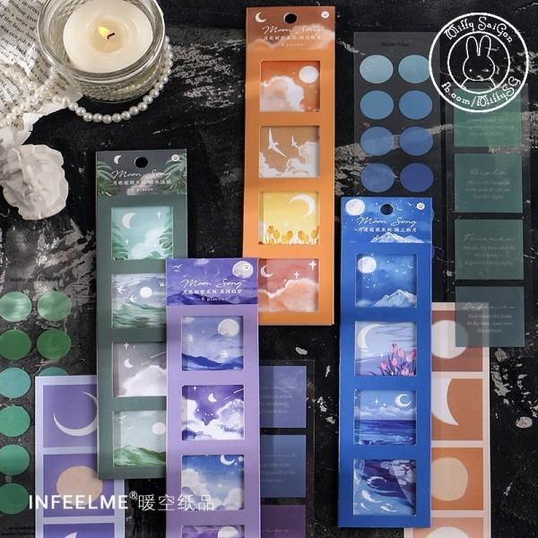 Mua [INFEEL.ME] Bộ sticker chất liệu tổng hợp chủ đề MINH NGUYỆT CHI CA