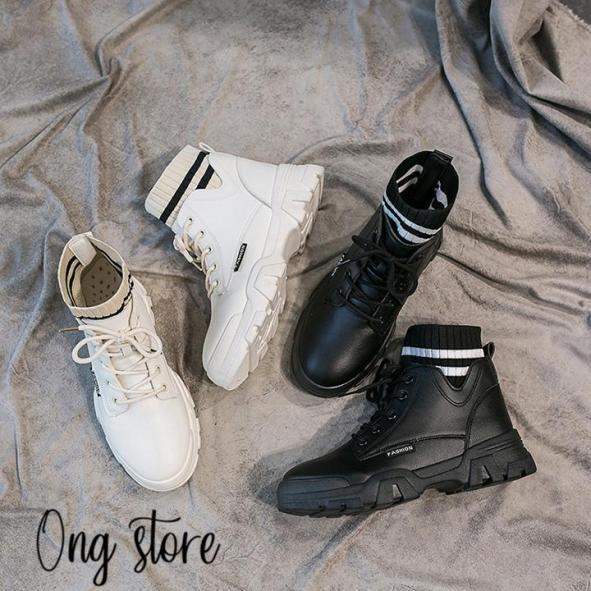 Boot nữ boots nữ cổ chữ V giá rẻ