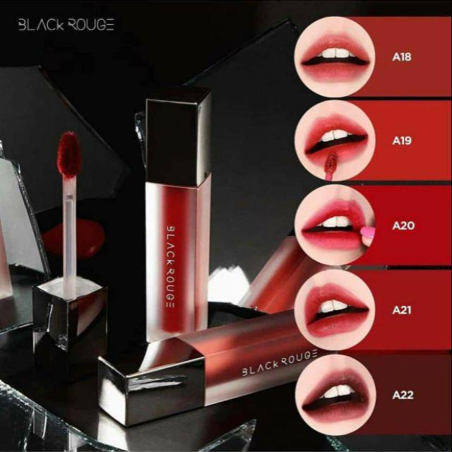 ( Full 27 màu)SON KEM LÌ SIÊU MỊN BLACK ROUGE AIR FIT VELVET TINT VERSION 2