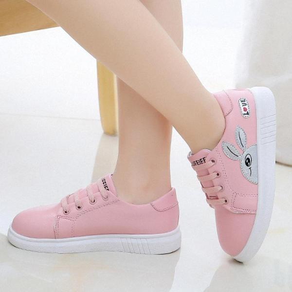 giày thể thao bé gái từ 4 - 13 tuổi - TE201(không buộc dây)
