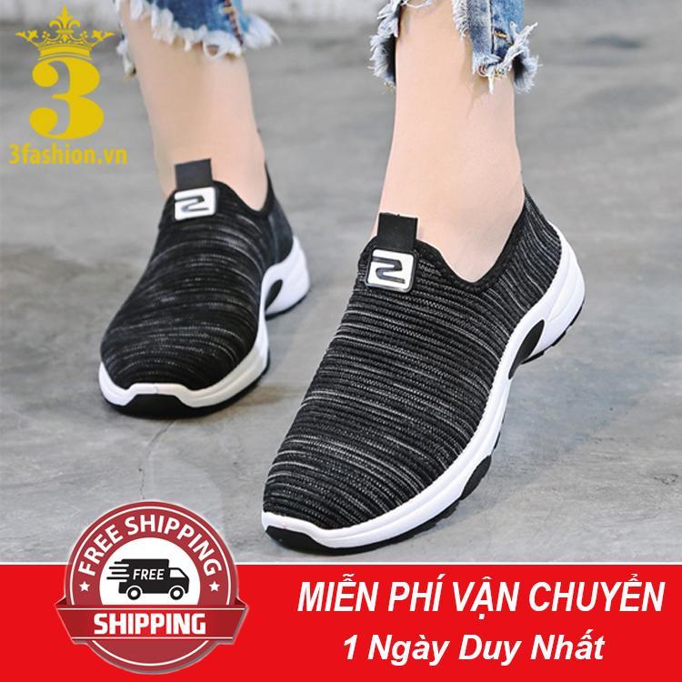[Mẫu HOT⚡] Giày Lười Thể Thao Nữ 3Fashion Shop Vải Mềm Nhẹ Cực Kỳ Êm Chân - 3162