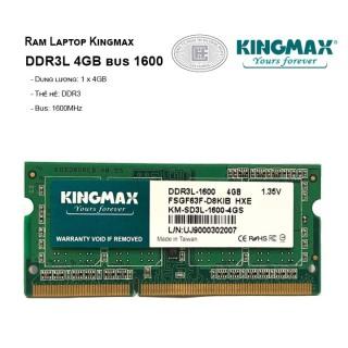 Ram Laptop Kingmax DDR3L 4GB bus 1600 chính hãng BH 36 tháng thumbnail