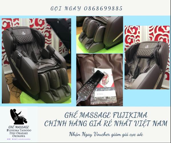 [ HOT HOT HOT 2021 ] Ghế massage liên động tự động massage toàn thân trị liệu Nhật Bản FUJIKIMA FJ-B296