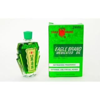 Dầu Gió Xanh 2 Nắp Mỹ (Eagle Brand Medicated Oil) thumbnail