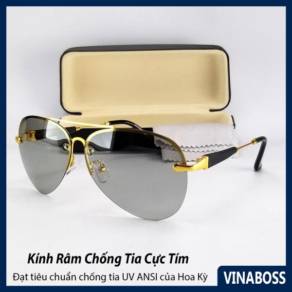 Mua Mắt kính mát nam nữ đổi màu dùng cả ngày và đêm VNME743DM - Tặng kèm hộp và khăn lau