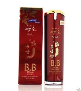 Kem nền BB Hồng sâm đỏ Hàn Quốc 40ml, kem lót nền BB My Gold, kem nền Hàn Quốc, kem nền BB Cream, kem nền che khuyết điểm, PP Sâm Yến Thái An thumbnail