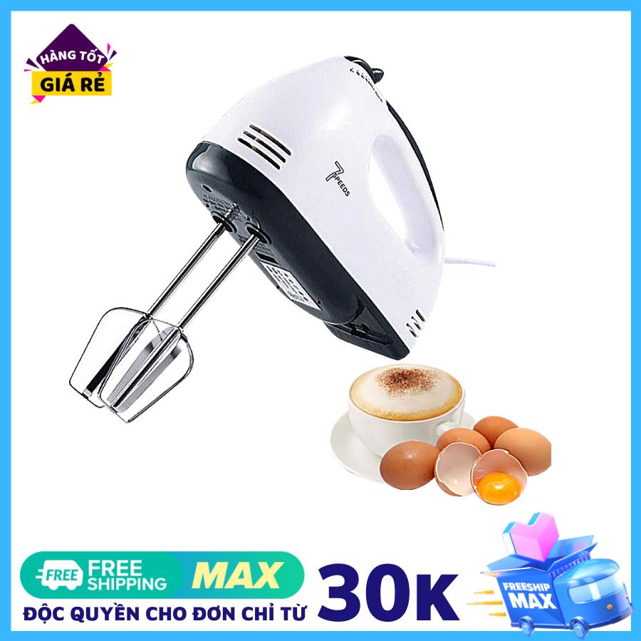 Máy Đánh Trứng Cầm Tay 7 Cấp Tốc Độ 180W KÈM 4 ĐẦU KHUẤY INOX - BẢO HÀNH 1 NĂM, Máy làm kem tươi, trộn sup chất lượng, Hỗ trọe làm bánh tại nhà