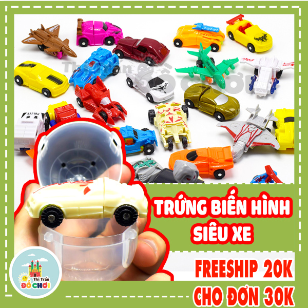 Đồ chơi trứng biến hình ô tô máy bay robot cực hay - thị trấn đồ chơi