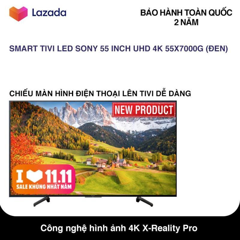 Bảng giá Smart Tivi Sony 55 inch Ultra HD 4K - Model KDL-55X7000G (Đen) Hệ điều hành Lunix, Công nghệ hình ảnh X-Reality PRO, Điều khiển bằng điện thoại - Bảo Hành 2 Năm