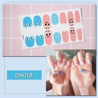 Bộ dán móng tay nail sticker gồm 14 móng mã DA01 - DA020 thumbnail