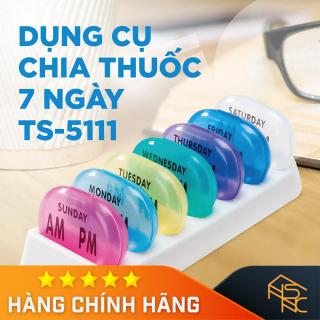[Nhựa Tashuan] Hộp chia thuốc 7 ngày, loại tròn thumbnail