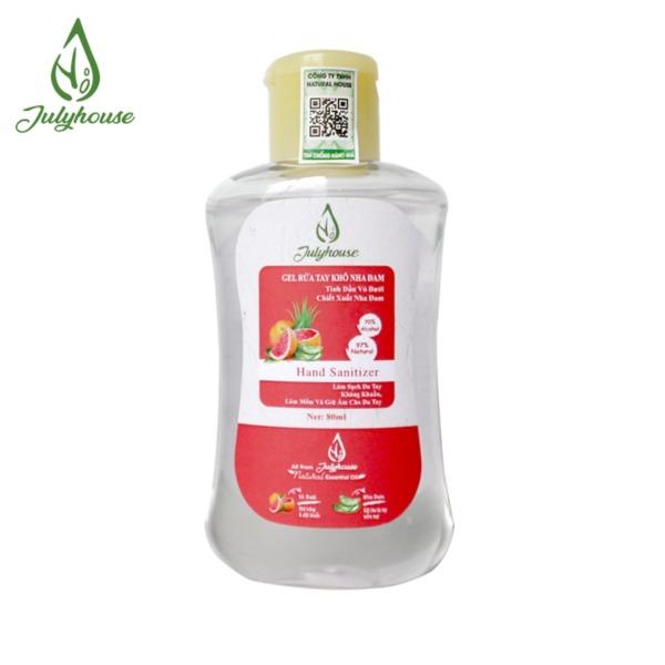 Gel rửa tay khô tinh dầu Bưởi Chùm và Nha Đam 80ml JULYHOUSE