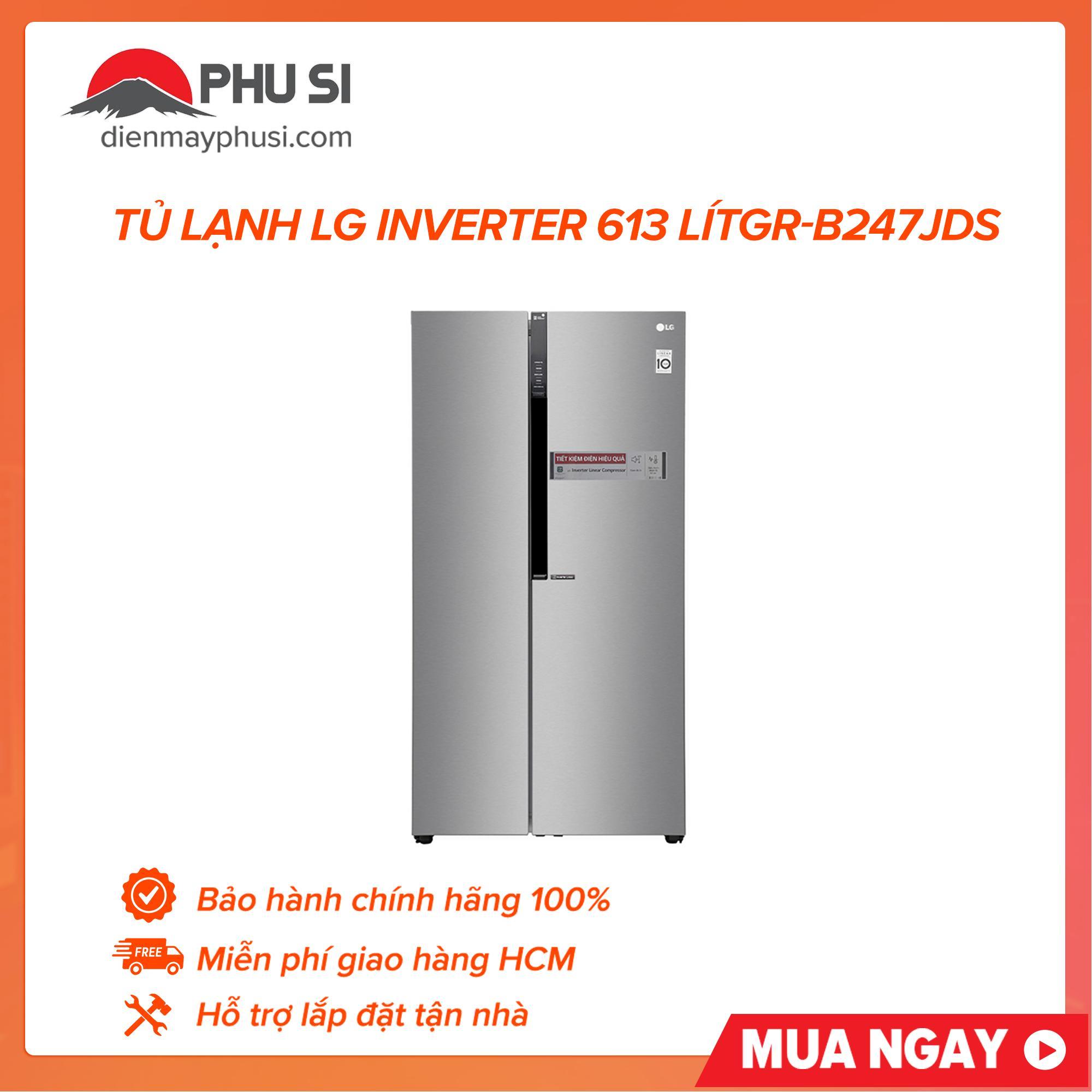 Tủ Lạnh LG Inverter 613 Lít GR-B247JDS Đang Khuyến Mãi