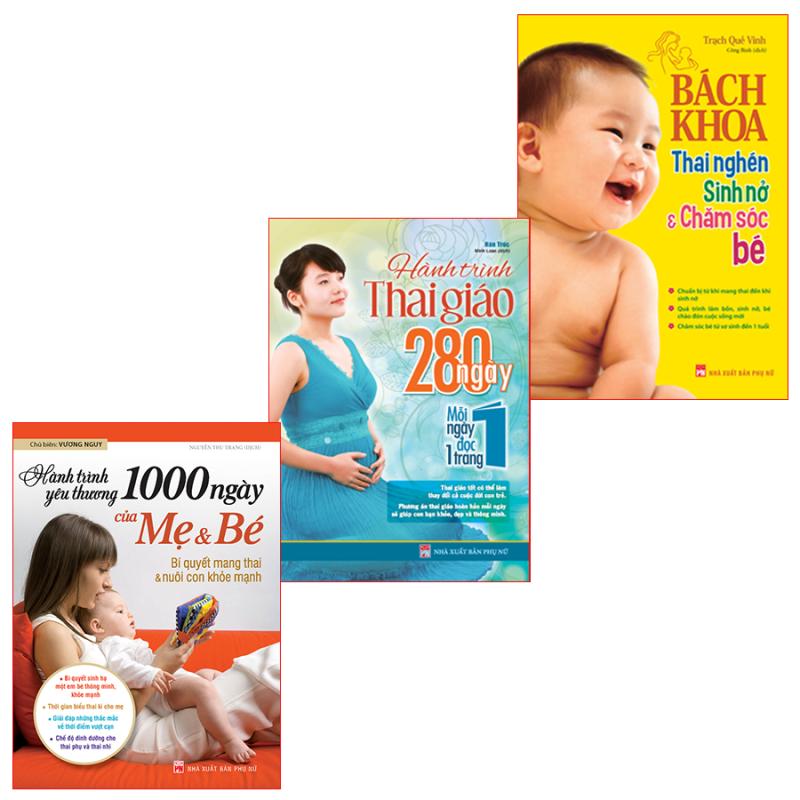 Sách: Combo Bách Khoa Thai Nghén Sinh Nở + 1000 Ngày Yêu Thương + Hành Trình Thai Giáo 280 Ngày