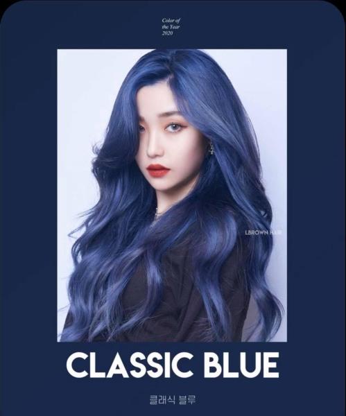 Thuốc nhuộm tóc màu Xanh classic blue + Tặng trợ nhuộm, gang tay