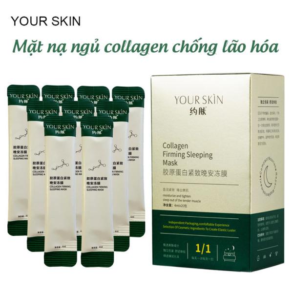 [Hộp 20 gói] Mặt nạ ngủ collagen YOUR SKIN trắng da chống lão hóa mặt nạ ngủ dưỡng ẩm mặt nạ ngủ dạng gel mặt nạ nội địa Trung TM-MN304 nhập khẩu