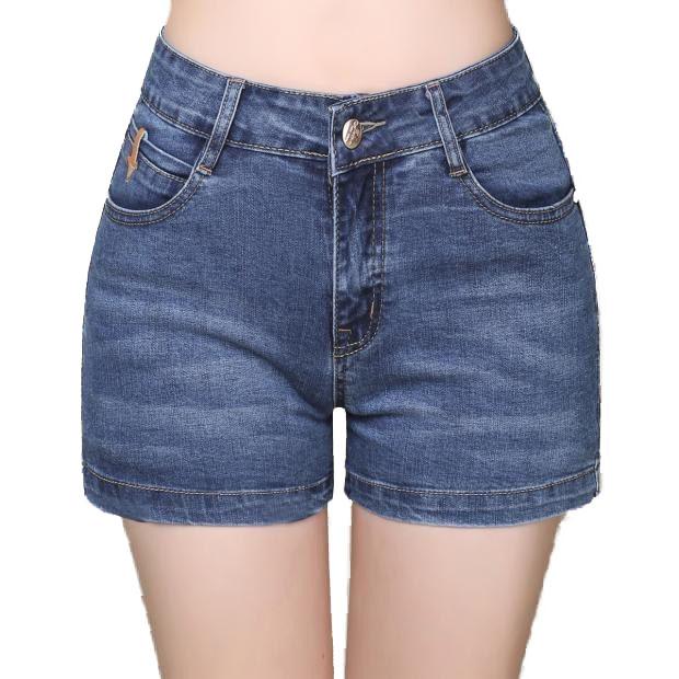 Quần short jean BIG SIZE 2174 lưng cao mặc tôn dáng, chất liệu dày dặn co giãn mạnh, phong cách năng động cá tính Molijean