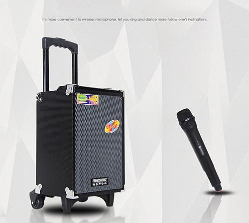 Loa a8 2t lloa kéo temeisheng a8-2t karaoke bluetooth di động dòng bass 20cm tặng kèm 1 micro không dây giá rẻ