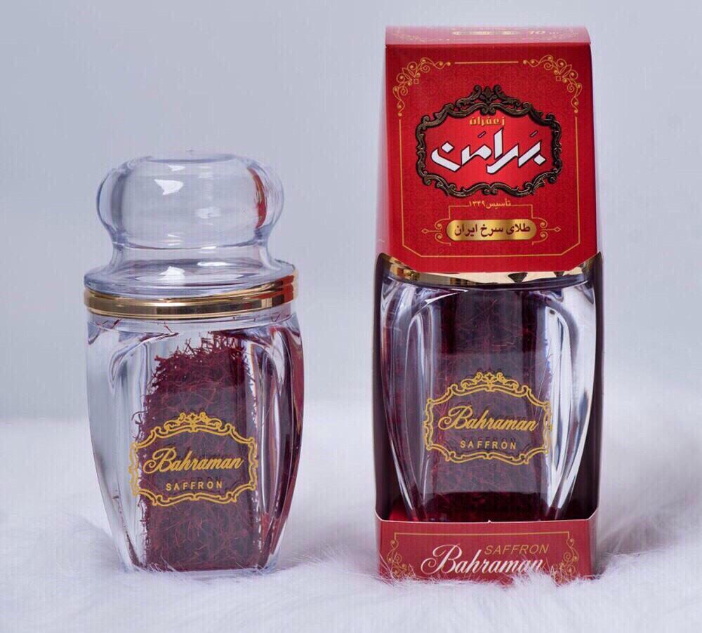 Nhụy Hoa Nghệ Tây saffron Iran hiệu Bahraman lọ 1g